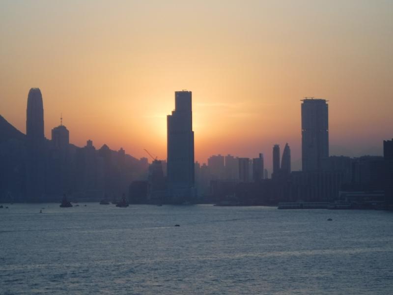 Sunset at Hong Kong